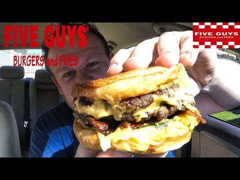 FIVE GUYS ☆DOUBLE BACON CHEESE PATTY MELT☆ Secret Menu Food Review!!!