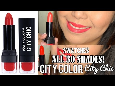 City Color City Chic Lipstick SWATCHES (30 SHADES) - saytiocoartillero