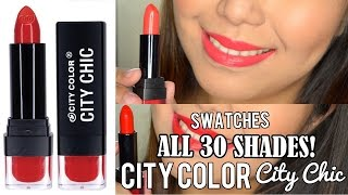 preview picture of video 'City Color City Chic Lipstick SWATCHES (30 SHADES) - saytiocoartillero'