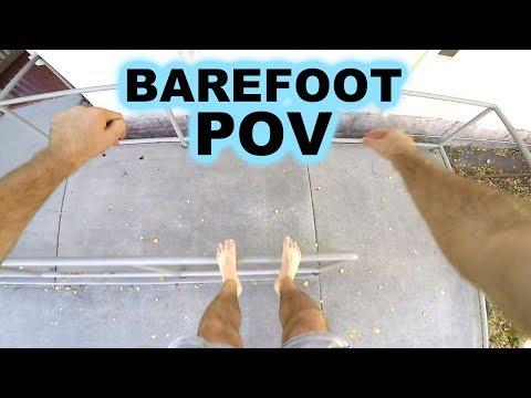 Barefoot Parkour Training POV