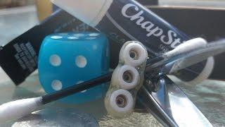Worlds smallest fidget spinner.  DIY Fingerboard Wheel Fidget Spinner Tutorial.