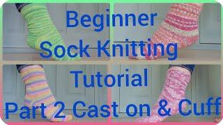 Sock Knitting Tutorial On 9 Circular Needles - Cast On - Part 1