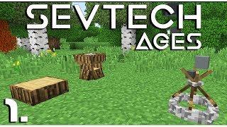 Minecraft - SevTech: Ages  - Andi vágni fát - 1.rész