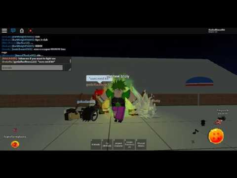 new broly is dominating dragonball rp in roblox - смотреть
