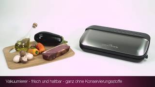 Вакуумный упаковщик Вакууматор Profi Cook PC-VK 1134 Германия от компании PolyMarket - видео