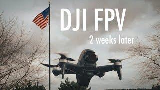 DJI FPV - 2 Weeks of Flying + a Crash