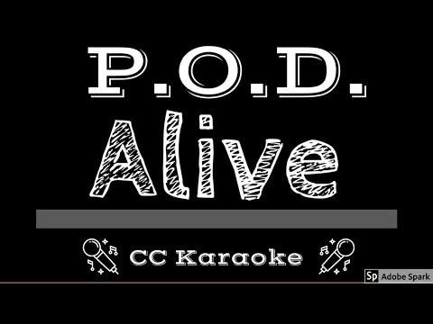 P.O.D. • Alive (CC) [Karaoke Instrumental Lyrics]