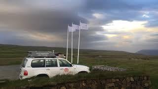 Crazy winds in Iceland highlands
