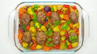 Котлеты запеченные с овощами. Рецепт от Всегда Вкусно!