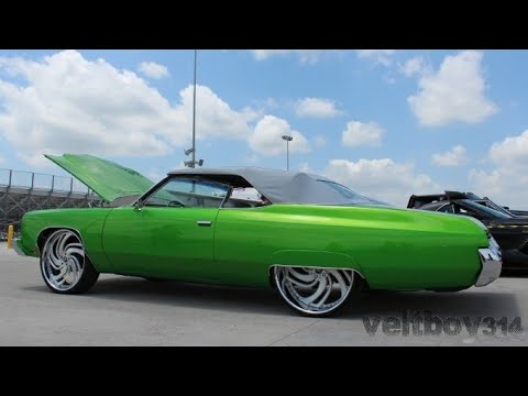 Acewhips NET- Pompano Candy Slime Green Chevy Donks on 28's
