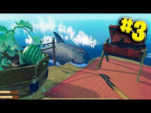 We Killed The Shark! - Big Ocean Survival Adventure - Raft Survival w/ JeromeASF #3