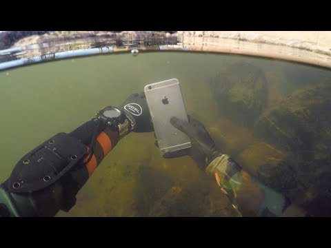 Found Lost iPhone 6 Underwater in River While Scuba Diving! (Does it Work?) | DALLMYD