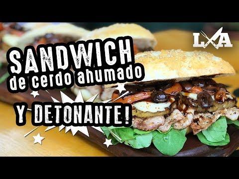 Sandwich de Cerdo Ahumado y Detonante - Receta de Locos X el Asado