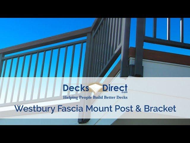 Westbury Fascia Mount Post with Bracket-Black Fine Texture-2