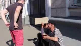 Холодный квас для бездомных (социальный эксперимент) - Cold drinks for homeless