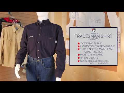 Tradesman Shirt Product Video M110T