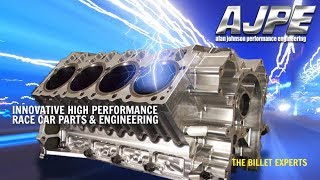 AJPE Billet Aluminum 481x HEMI Block And Stage 4 Cylinder Heads At Prformance Racing Industry (PRI)