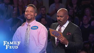 Duane MUST get 21 points on his FINAL ANSWER for $20,000!   Family Feud