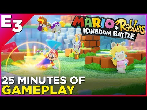 25 Minutes of Mario + Rabbids Kingdom Battle Gameplay @ E3 2017 thumbnail