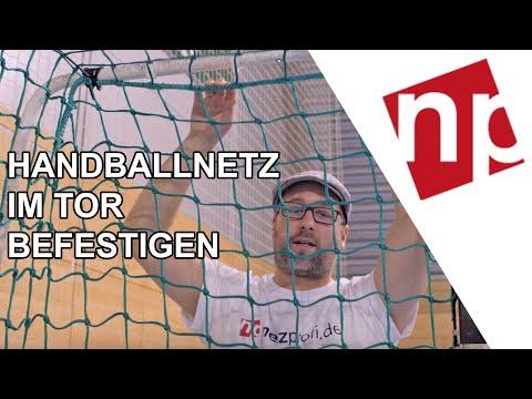 Handballnetz im Tor anbringen (Tornetz Montage-Anleitung) - so geht's