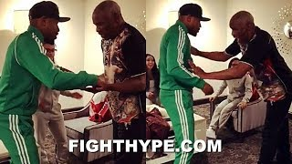 "FLOYD MAYWEATHER GOES ONE-ON-ONE WITH DAD IN HAND SLAP GAME: ""NOBODY'S FASTER THAN ME"""
