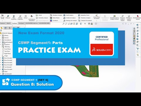 Solidworks CSWP Segment 1 | Practice Test | Updated Test Form ...