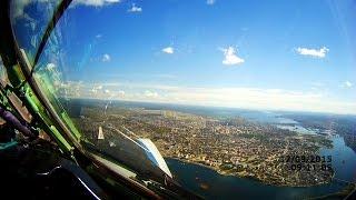 Иркутск. Посадка из кабины пилота