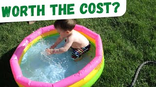 Sunset Glow Baby Pool Review: Set Up and Storage
