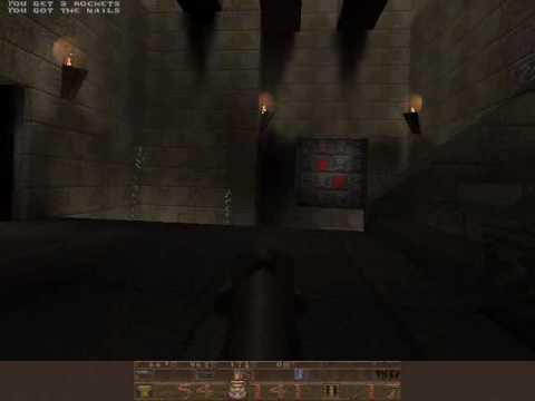 Quake 1 Play Through 7: E1M6 The Door to Chthon - смотреть
