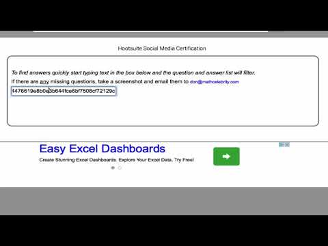 Hootsuite Professional Exam Answers - YouTube