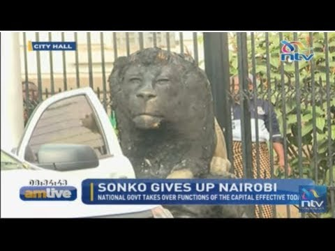 Sculptures erected by Governor Mike Sonko defaced and painted black