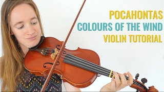Colours of the Wind - Pocahontas [Violin Tutorial] // Fairytale Challenge