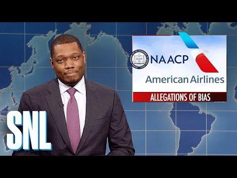 Weekend Update on American Airlines' Racial Bias - SNL