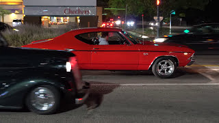 Cammed 454 Big Block Chevy 1969 Chevelle Malibu SS With Open Headers Leaving Muscle Car Show [4K]