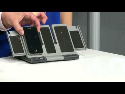 """revolt Multi-Ladestation """"Power-Source I"""" für iPhone, Handy & Co."""