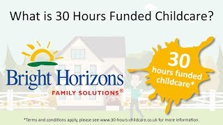 30 Hours Funded Childcare   Bright Horizons Day Nursery & Preschool