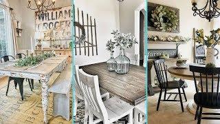 ❤DIY Shabby Chic Style Rustic Dining Room Decor Ideas   Farmhouse Dining Room Decor   Flamingo Mango