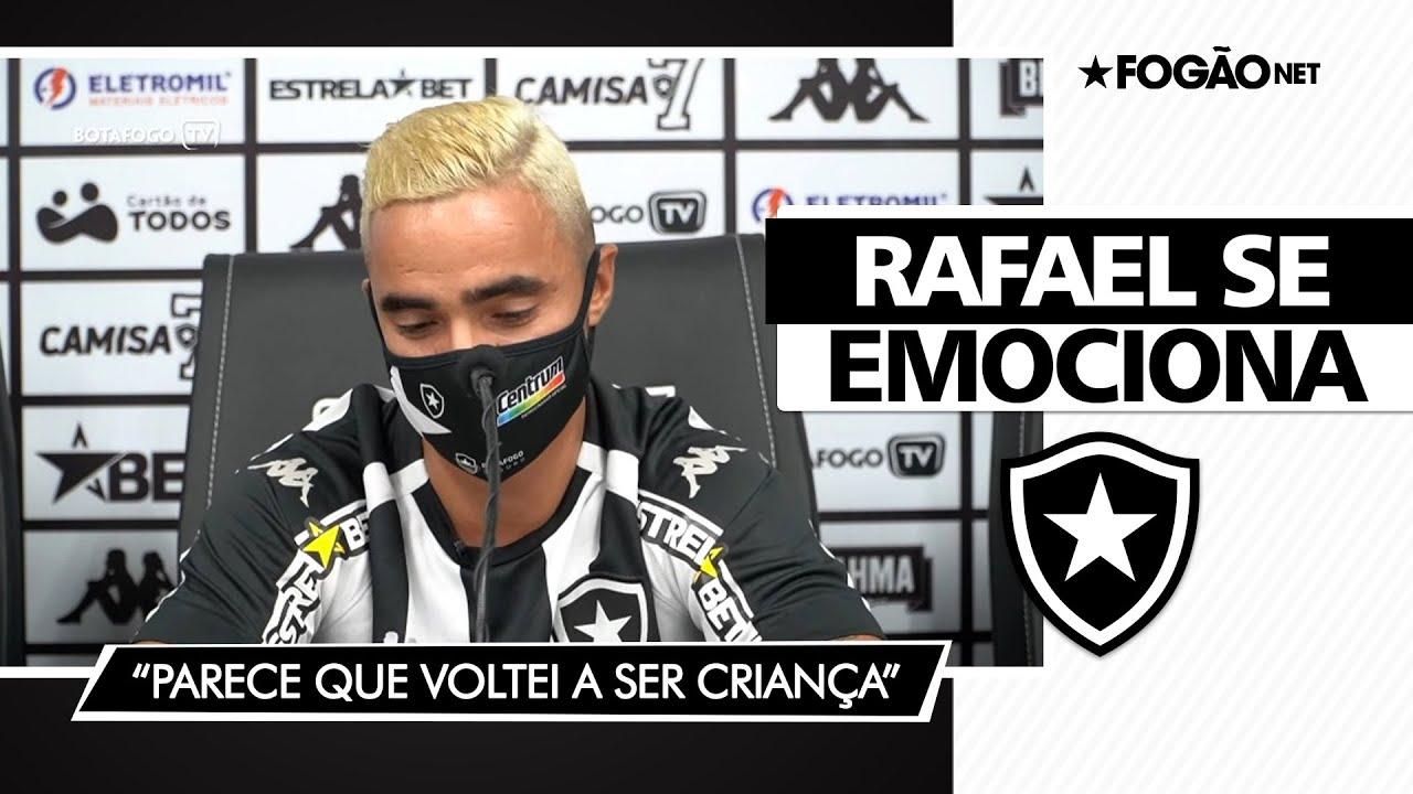 Rafael não segura emoção na apresentação e diz em que posição prefere jogar para ajudar o Botafogo 🥰⭐