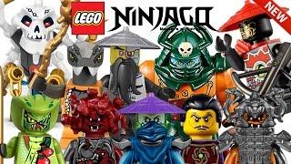 ALL 90+ LEGO NINJAGO VILLAIN MINIFIGURES COLLECTION! HD 2011-2017