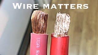 Real Copper Wire Vs Cheap Wire