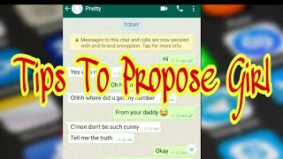 Tips to propose girl on Chat | WhatsApp chats with crush girl | 2020 best trick