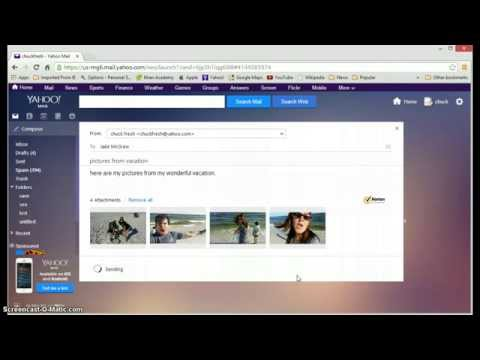 How attach a file with Yahoo Mail