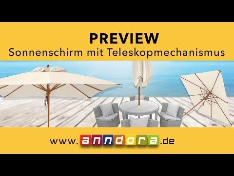 Sonnenschirm mit Teleskopmechanismus anndora.de