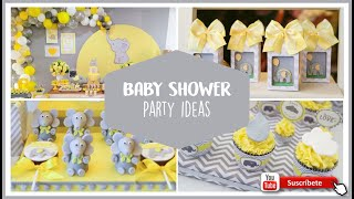 ELEPHANT BABY SHOWER PARTY IDEAS - BABY SHOWER ELEFANTE AMARILLO NIÑO - IDEAS TEMÁTICAS BABY SHOWER