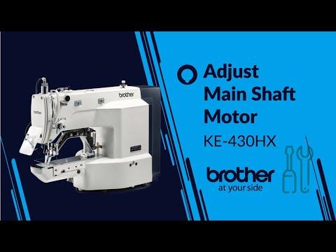 KE-430H & BE-438H Adjusting the main shaft motor reference position