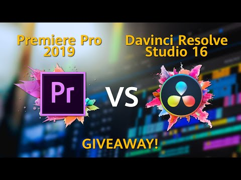Davinci Resolve 16 vs Adobe Premiere Pro 2019 - PC Hardware and GIVEAWAY!