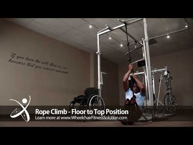 Wheelchair Fitness Solution | Exercise: Rope Climb – Floor to Top Position (11 of 40)