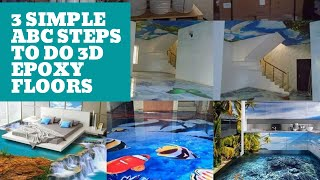 3 Easy steps to make 3d epoxy flooring like ABC quick tutorial