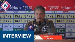 ADO-trainer Ruud Brood: 'Bij een nederlaag tegen RKC wordt de afstand naar plek 15 erg groot'