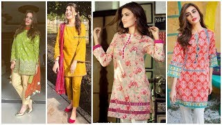 Summer Cotton & Lawn Casual Kurti/Kurta Designs For Girls